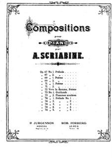 Two Dances, Op.73: No.2 Flammes sombres by Alexander Scriabin