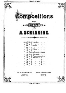 Two Dances, Op.73: No.1 Guirlandes by Alexander Scriabin