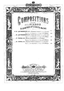 Rogneda: Dance of Skomorokhs. Arrangement for two pianos eight hands – piano I parts by Alexander Serov