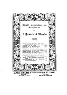 Charge of the Hussars for Two Pianos Four Hands, Op.140 No.3: piano parte I by Fritz Spindler