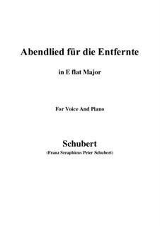 Abendlied für die Entfernte (Evening Song for the Distant Beloved), D.856 Op.88 No.1: para voz e piano (E flat maior) by Franz Schubert