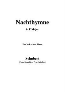 Nachthymne (Hymn to the Night), D.687: F Maior by Franz Schubert
