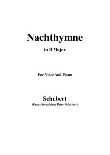 Nachthymne (Hymn to the Night), D.687: B Major by Franz Schubert