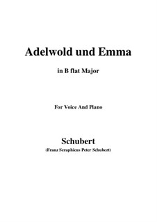 Adelwold and Emma, D.211: B flat Maior by Franz Schubert