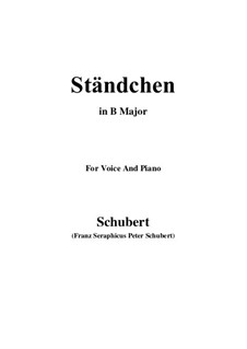 Serenade 'Horch, horch die Lerch im Ätherblau', D.889: For voice and piano (B Major) by Franz Schubert