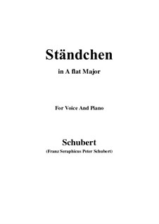 Serenade 'Horch, horch die Lerch im Ätherblau', D.889: para voz e piano (A flat maior) by Franz Schubert