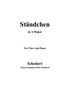 Serenade 'Horch, horch die Lerch im Ätherblau', D.889: para voz e piano ( A maior) by Franz Schubert