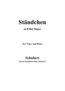 Serenade 'Horch, horch die Lerch im Ätherblau', D.889: para voz e piano em B flat Maior) by Franz Schubert