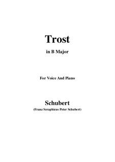 Trost (Consolation), D.671: B Major by Franz Schubert