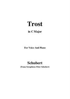 Trost (Consolation), D.671: C maior by Franz Schubert