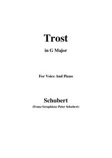 Trost (Consolation), D.671: G maior by Franz Schubert