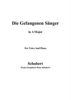 Die gefangenen Sänger (The Captive Singers), D.712: A Major by Franz Schubert