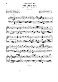 The Well-Tempered Clavier. Selections: Two Preludes and Three Fugues by Johann Sebastian Bach