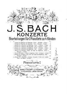 Concertos. Arrangement for Two Pianos Four Hands: piano parte I by Johann Sebastian Bach