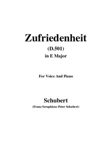 Zufriedenheit (Contentment), D.501: E Major by Franz Schubert