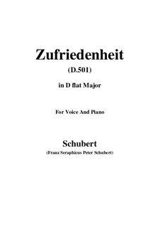 Zufriedenheit (Contentment), D.501: D flat Major by Franz Schubert