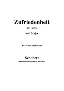Song for Voice and Piano, D.362: G maior by Franz Schubert