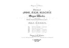 Toccata and Fugue in E Major, BWV 566: arranjos para piano de quatro mãos by Johann Sebastian Bach