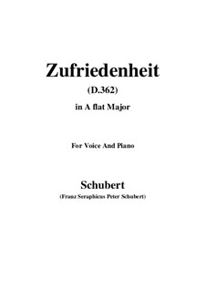 Song for Voice and Piano, D.362: A flat Major by Franz Schubert