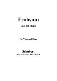 Frohsinn (Cheerfulness), D.520: D flat Major by Franz Schubert