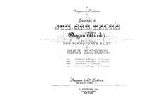 Prelude and Fugue No.11 in G Major, BWV 541: arranjos para piano de quatro mãos by Johann Sebastian Bach