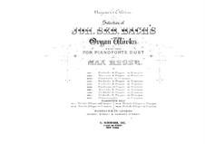 Prelude and Fugue in E Flat Major, BWV 552: arranjos para piano de quatro mãos by Johann Sebastian Bach