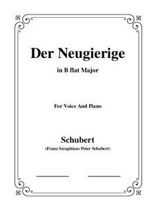 No.6 Der Neugierige (The Inquisitive One): para voz e piano em B flat Maior) by Franz Schubert