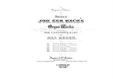Prelude and Fugue in A Minor, BWV 543: arranjos para piano de quatro mãos by Johann Sebastian Bach