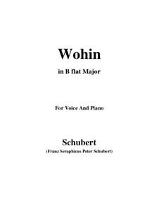 No.2 Wohin (Where to): para voz e piano em B flat Maior) by Franz Schubert