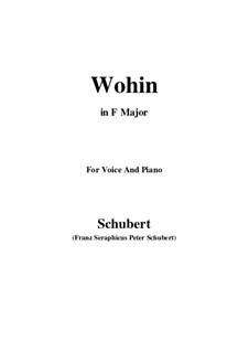 No.2 Wohin (Where to): Para voz e piano (F maior) by Franz Schubert