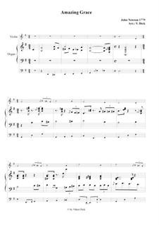 Amazing Grace: para violino e orgão by folklore
