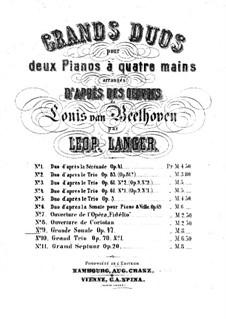 Sonata for Violin and Piano No.9 'Kreutzer', Op.47: versão para dois pianos de quatro mãos - piano parte I by Ludwig van Beethoven