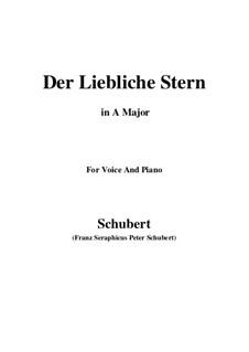 Der liebliche Stern (The Lovely Star), D.861: para voz e piano ( A maior) by Franz Schubert