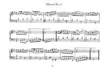 Minuet No.2 in G Minor, BWV 842: Para Piano by Johann Sebastian Bach