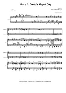 Once in Royal David's City: Duet for C-Instruments and piano by Henry John Gauntlett