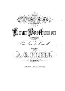 Trio for Two Oboes and Cor Anglais, Op.87: Version for three cellos – cello I part by Ludwig van Beethoven