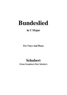 Bundeslied (Song of Fellowship): C maior by Franz Schubert
