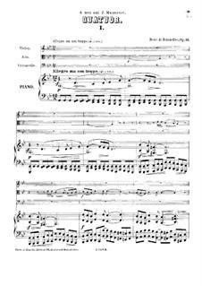 Piano Quartet in G Minor, Op.13: Partitura completa by René de Boisdeffre