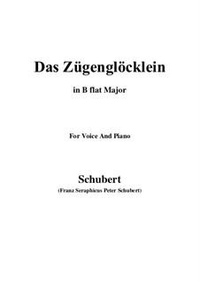 Das Zügenglöcklein (The Passing Bell), D.871 Op.80 No.2: para voz e piano em B flat Maior) by Franz Schubert