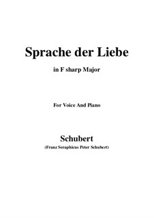 Sprache der Liebe (Language of Love), D.410 Op.115 No.3: F sharp Major by Franz Schubert