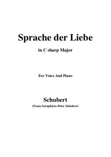 Sprache der Liebe (Language of Love), D.410 Op.115 No.3: C sharp Major by Franz Schubert