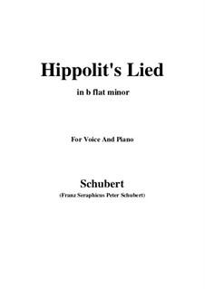 Song of Hippolytus, D.890: B flat minor by Franz Schubert