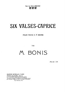 Six valses-caprice for Piano Four Hands: Six valses-caprice for Piano Four Hands by Mel Bonis