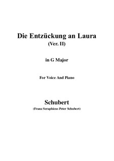 Die Entzückung an Laura (Enchanted by Laura), D.390: G maior by Franz Schubert