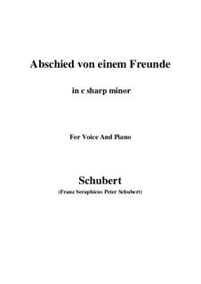 Abschied von einem Freunde (Farewell to a Friend), D.578: C sharp minor by Franz Schubert