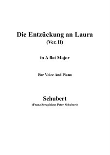 Die Entzückung an Laura (Enchanted by Laura), D.390: A flat Major by Franz Schubert