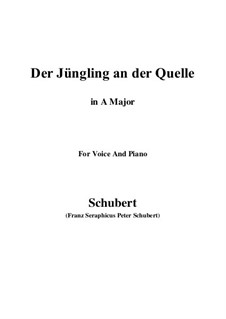 The Youth by the Spring, D.300: A maior by Franz Schubert