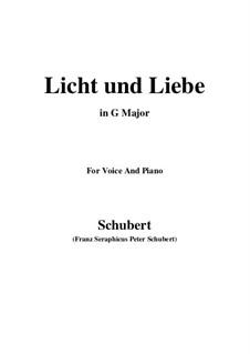 Licht und Liebe (Light and Love), D.352: G maior by Franz Schubert