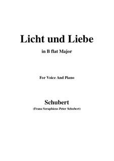 Licht und Liebe (Light and Love), D.352: B flat Maior by Franz Schubert