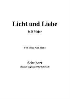 Licht und Liebe (Light and Love), D.352: B Major by Franz Schubert